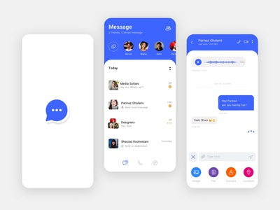 Message app uiux app application minimalist design minimal ui ux website sketch