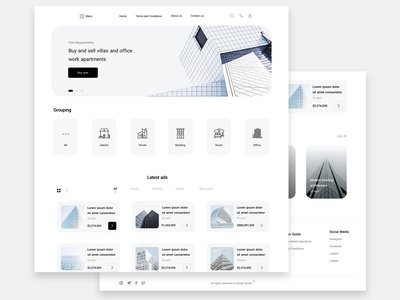 Building UI Design | SoltaniMedia icon design shopping application minimalist minimal ui ux website sketch