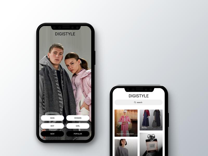 Cloths Shop (digistyle concept) digistyle application design adobe photoshop ui design sketch app adobe illustrator