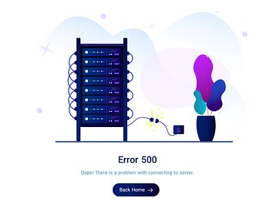Server 500 Error Illustration servers ui adobe illustrator illustrator illustration error 500 error server error server