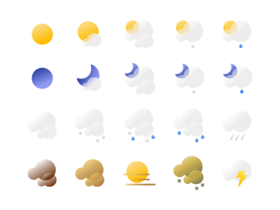 Weather icons for the San Francisco Chronicle