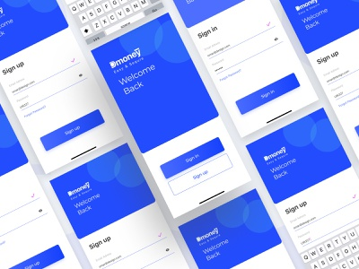 Sign in / Sign up UI colors screen mobile welcome adobe xd concept design figma flat rent search minimal banking app mobile app sign in sign up ux app
