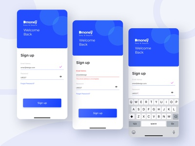 Sign up UI welcome screen welcome sign in sign up signup illustration typography web flat app ux banking app mobile app ui