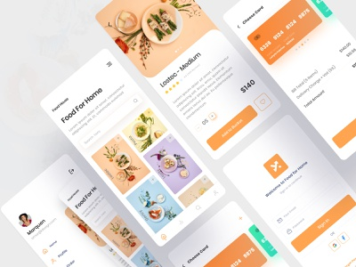 Food Delivery App color food groceries dribbble best shot mobile app illustration ui ux minimal app food app concept resturant foodie cooking app