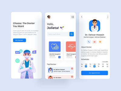 Doctor Consultation App dental dental care minimal flat design app design concept illustration dribbble best shot online mobile medical care ui ux clinical medicine healthcare doctor app consultant medical app