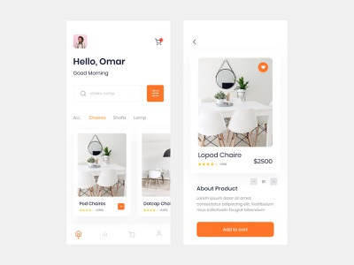 Interior Mobile App interior design shoping app interface ux decoration furniture decorate lamp decor uidesign uitrends minimalism decoration app product interior app