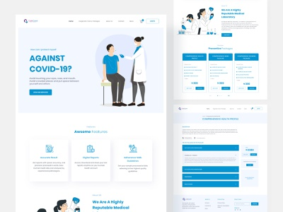 Carequest Laboratory Website Design website design website concept homepage health deshboard website lab doctor ui minimal medical flat healthcare laboratory clinic