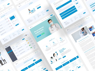 CareQuest Medical laboratory Website Design website concept ui ux dribbble best shot trend color minimal celan flat constellation medicine clinic doctor medical laboratory inner page landingpage website webdesign