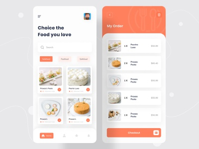 Food Delivery - Mobile App mobile ui mobile design mobile app design food delivery service food delivery application food delivery app food delivery food app food and drink food app design app