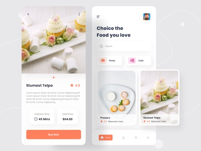 Food Delivery - Mobile App mobile design dribbble best shot illustrtation color clean minimal food delivery service food delivery application food delivery app food delivery food app food app design app