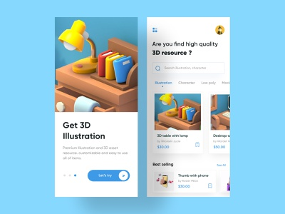 Downloader App dribbble best shot flat minimal ui design brand identity popular branding app design app ui uiux mobile app mobile color illustration 3d art 3d downloader