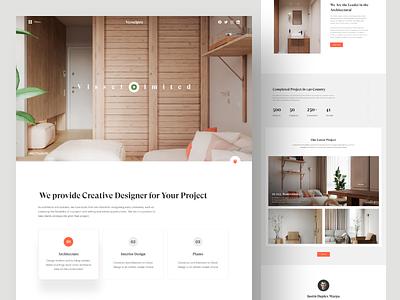 Vesselpro Interior Website interior architecture webdesign ux ui web interior design landing page website architect minimal interior