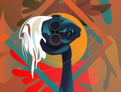 one hand face iilustration illustration art illustrations illustraion illustrator iillustration vector illustration vector art vectorart vectors vector digitalpainting adobeillustator digitalart design illustration