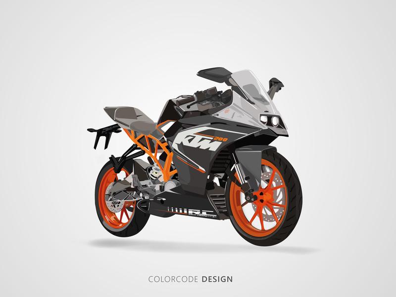 Ktm Bike illustration