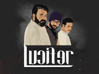 Lucifer malayalam movie illustration