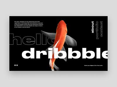 Hello dribbble! fish koi carp firstshot hello dribbble