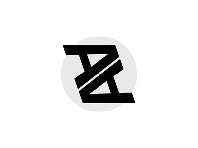 My initials for official Dirbbble playoff 1 typography dribbble design vector