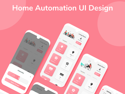 Home Automation App UI Design home automation minimal app ui ux design