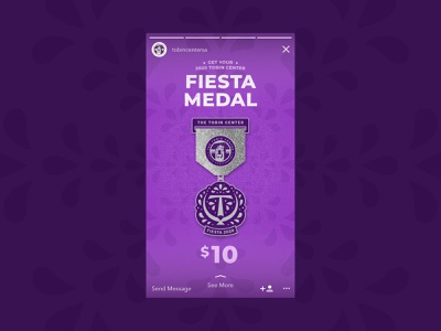 Fiesta Medal vector illustration branding design