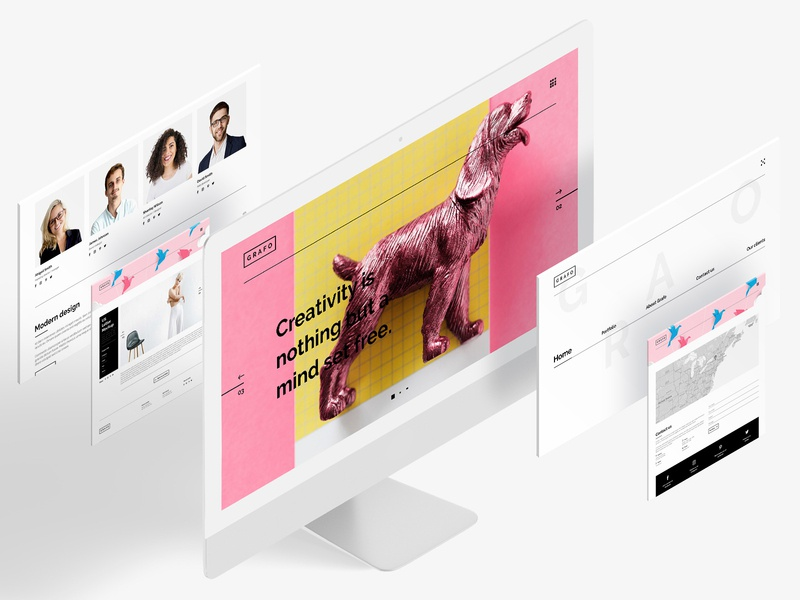 Grafo - portfolio website portfolio website portfolio ui web design design adobe photoshop