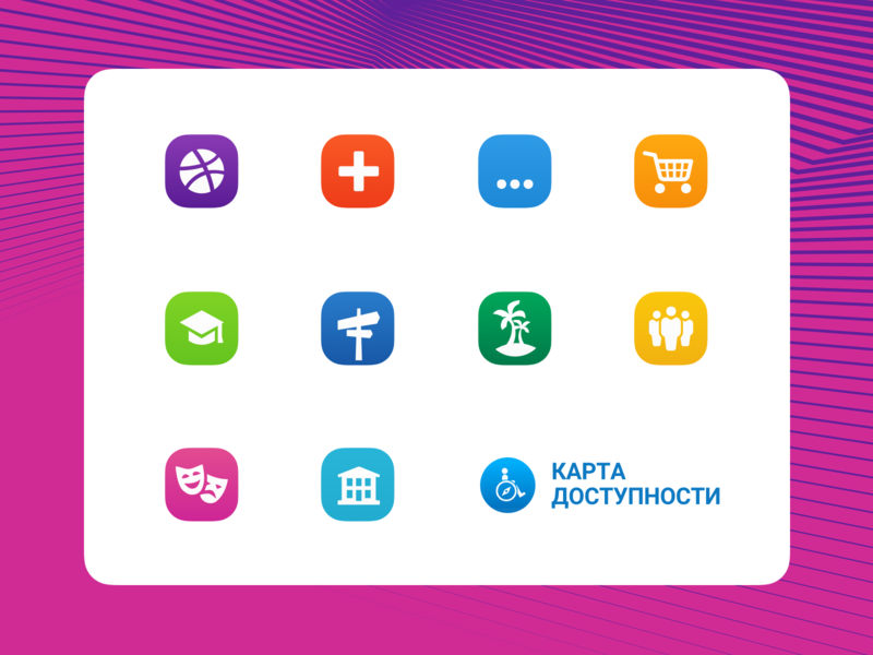 Acessibility Map icons ux ui sochi paralympics map accessibility icons