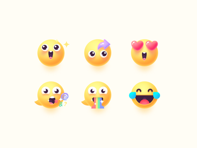 emoji laugh and cry spit rainbow tease make complaints comment like surprise surprised emoji