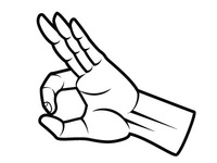 Excellent Finger Gesture Vector Image