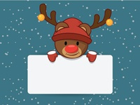 Deer Christmas Vector Image