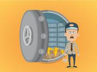 Money in the vault vector image