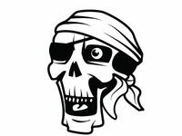 Pirate Skull Vector Art