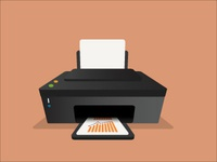 Printer Vector Art