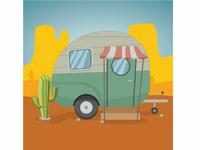 Camper Vector Clip Art