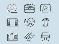Movie icons vector pack