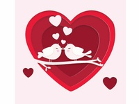 Love Valentine's Day Vector Image