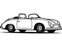 Retro Car Vector Art