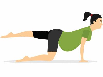 Pregnant Woman Vector Art woman illustration vector exercise aerobic gym fitness pregnant woman