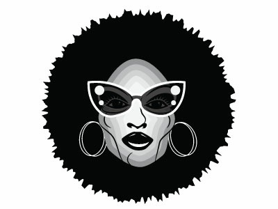 Funky woman woman illustration woman people monochrome vector illustration