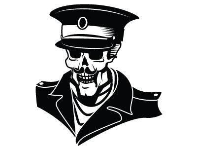 Skull Soldier Vector Art soldier skull monochrome drawing illustration vector
