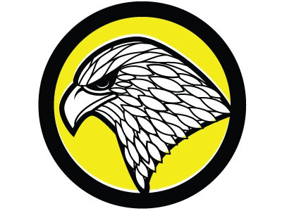 Eagle Vector Clip Art logotype hawk falcon eagle monochrome drawing illustration vector