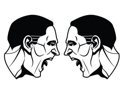 Argument Vector Image argument people monochrome drawing illustration vector