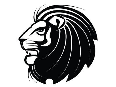 Lion Vector Image vector monochrome heraldic animal lion