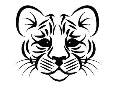 Cat Silhouette monochrome vector illustration animal cat