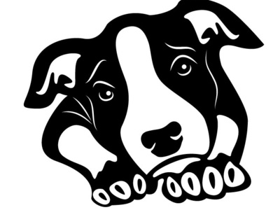 Cute Puppy Vector puppet dog puppy animal monochrome drawing illustration vector