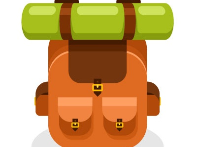 Backpack Vector Icon symbol icon travel backpack drawing illustration vector