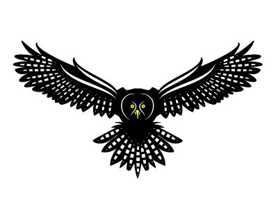 Owl Vector Silhouette owl bird animal monochrome drawing illustration vector