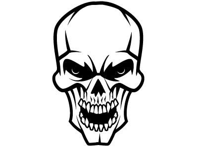 Angry Skull Vector skeleton skull monochrome drawing illustration vector
