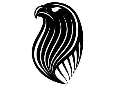 Hawk vector clip art logotype eagle hawk animal monochrome drawing illustration vector