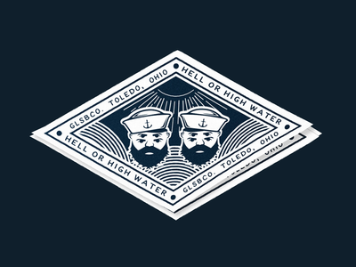 Hell or high water accessories apparel ohio stickers sticker skateboarding skateboard color branding logo illustrator design