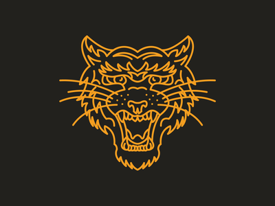Meow ai tiger cat color logo design logo branding brand icon line mono line illustration