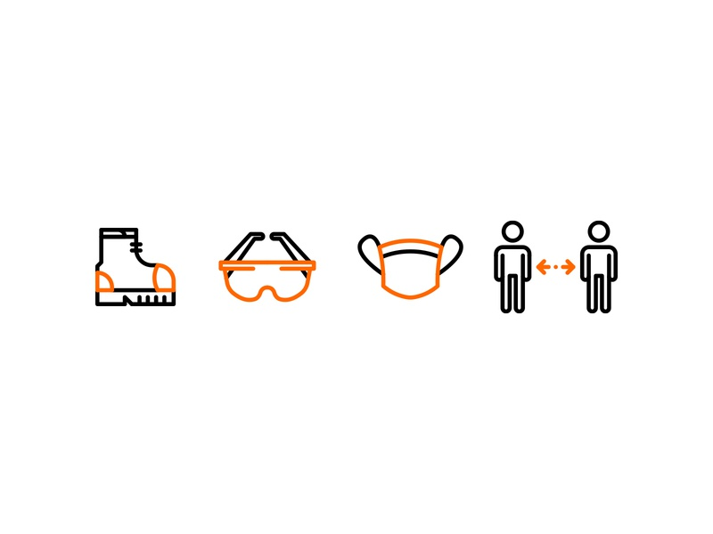PPE Icon Set (2) safety ppe iconography iconsets iconset icon illustrator colors color illustration